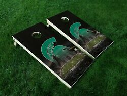 VINYL WRAPS Cornhole Board DECALS Michigan State Spartans 09 MSU Bag Game Toss