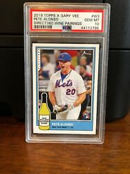 2019 Topps X Gary Vee Pete Alonso Rookie Baseball Card #W3 PSA 10 Gem Mint