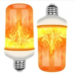 4Modes LED Flame Effect Simulated Nature Fire Light Bulb E27 9W Decoration Lamps