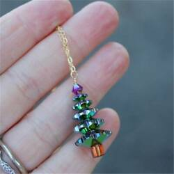 Lovely Christmas Tree Pendant Necklace Women Girls Cute Fashion Jewelry Gift