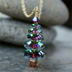Elegant Christmas Tree Pendant Necklace Women Girls Cute Fashion Jewelry Gift