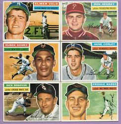 1956 Topps Nice Lot of 56 Different Every Card Scanned EX EX+ EXMT