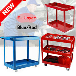 2 Tier Heavy Duty Workshop Garage Mechanic Utility Trolley Servic Tool Cart BP