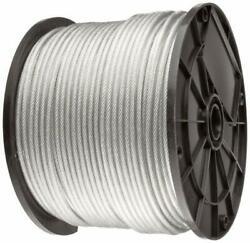 Vinyl Coated Stainless Steel 304 Cable Wire Rope 7x19 Clear 18