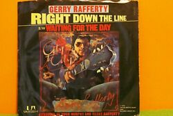 GERRY RAFFERTY - RIGHT DOWN THE LINE - UA 1978 PIC SLEEVE EX 7
