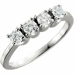 Round Diamond Solitaire Engagement Ring 14K White Gold 1.02 Ct (F Vs Clarity)