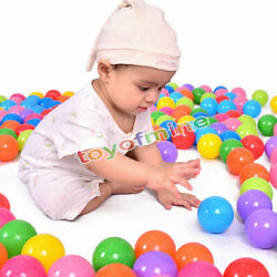 300Pcs Quality Secure Baby Kid Pit Toy Swim Fun Colorful Soft Plastic Ocean Ball