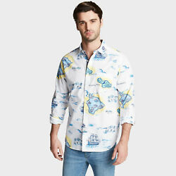 Nautica Mens Classic Fit Poplin Shirt In Print
