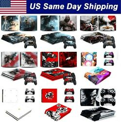 Customized Vinyl Decal Sticker Skins Cover for PS4 Pro Console & 2 Controllers