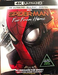 Spider-man: Far From Home (4K Ultra HD Blu-ray Digital wSlipcover) NEW