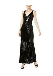 Women's New Size 16 Calvin Klein Black Sequined Party Evening  Cocktail Dress