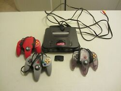 Nintendo 64 Console With 3 Controllers Tested Working!!!