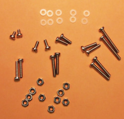 NEW 36 PC. S.S. CARTRIDGE MOUNTING SCREWS amp; HARDWARE FOR TURNTABLE HEADSHELL $9.95