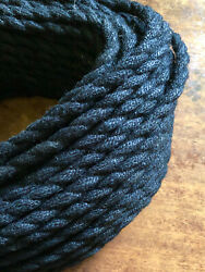 Black Jute Rope Electrical Cord Rustic Style Hemp Covered Lamp Pendant Wire $1.55