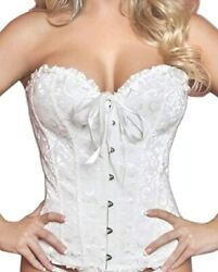 Evababy Plus Size Sexy Corset  for Women Exotic Floral Lace...size 5XL
