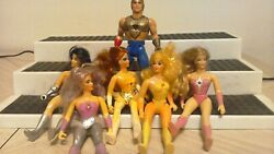 Vintage 1984 SHE RA Action Figure Lot Of 5 Girls 1 Dude Princess of Power MATTEL