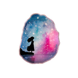 Color Printing oil painting Agate Gemstone Pendant Necklace H1908 0381