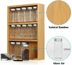 Spice Rack Stand Holder With 1523 Bottles Wooden Rack Spice Jars Free Label