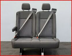 2 PASSENGER CHARCOAL CLOTH RECLINABLE BENCH SEAT WITH ARM UNIVERSAL FIT