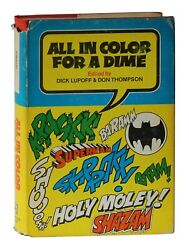 All In Color For A Dime by Lupoff and Thompson HCDJ Comic Book History 1970