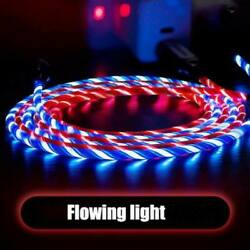 LED Light flowing Visible USB Charger Charging Cable Cord For iPhone and Android $4.99