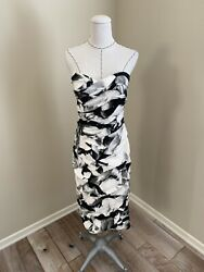 NWT $3K Gorgeous Monique Lhuillier Collection Runway Strapless Dress sz 10