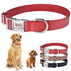 Leather DOG Collar Personalized Engraved ID Name Number Boy Girl Pets Puppy S L $7.18