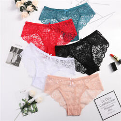 3Pack Women Sexy Lace Floral Low Waist Briefs Underwear Panties G-String Lingere $4.79