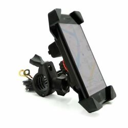 Motorcycle Handlebar Phone Mount Holder W USB Charger - Cell & GPS 78