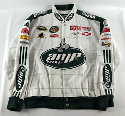 Dale Earnhardt. Jr. Amp Energy Jacket White Chase Authentics - Size XXL