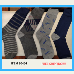 GH Bass Dress Socks 4 Pack Men Novelty Sharks Crew Fashion Stylish Lighthouse $9.99