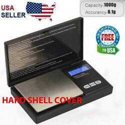 Digital Scale 1000g x 0.1g Jewelry Pocket Gram Gold Silver Coin Precise NEW $10.19
