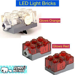 Lego LED Electric Light Brick 2x3x1 13 Trans-Red or Clear Top Christmas House