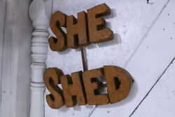 Metal She Shed Hanging Sign