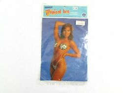 Vintage Braza Tropical Bra 1987 Brazil Flower Pasties Pkg of 2 Pair