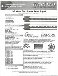8#x27; Titan LED Commercial Lighting 5600 Lumens rated 102000 hours lot 648