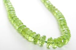 Appraised Jewelry Set Peridot Bead 18k Yellow Gold Necklace + Matching Earrings