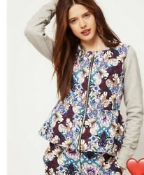 Asos Africa Collection FLoral Peplum Jacket Size 12