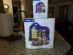 DEPARTMENT 56 SNOW VILLAGE YUENGLING TAVERN AND 2 YUENGLING ACCESSORIES