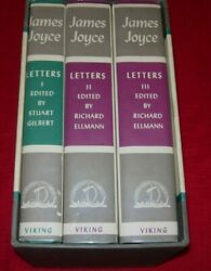 LETTERS OF JAMES JOYCE 3 VOLUME BOXED SET IN SUPERB CONDITION - 196667 - VIKING