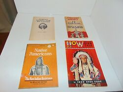 Vintage Lot of (4) Early Indian Books & Booklets - Nice Condition