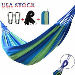Outdoor Camping Swing Hanging Bed Canvas Rope Hammock Travel Hiking Beach Patio $16.98