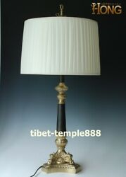 78 cm Western art deco bronze fabrics European style pillar table lamp desk lamp
