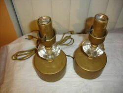 PAIR SMALL LAMPS FOR LAMP PARTS $25.00