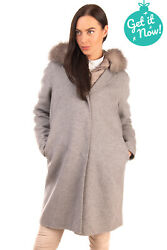 RRP€1280 MOORER Cashmere & Wool 3in1 Coat Size 42 S Down Quilted Jacket Fox Fur