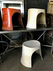 Set 3 Vintage Man CaveShe Shed Space Age Modern Fiberglass Stackable Seating