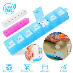 7 Day Weekly Daily Pill Box Organiser Medicine Tablet Storage Dispenser Week US $7.27