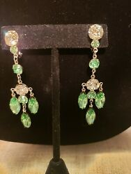 wiesner chandelier clip earrings extraordinary cond. 2.75quot; FREE SHIPPING $54.99