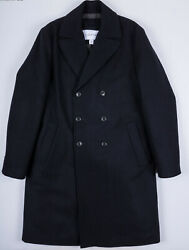 CALVIN KLEIN BNWT MENS WOOL BLEND DOUBLE BREASTED OVERCOAT sz M NAVY CAR COAT
