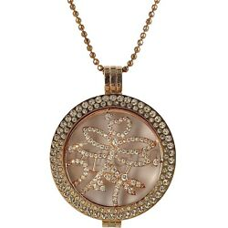 STERLINA MI MILANO ROSE GOLD PENDANT CRYSTAL LUCKY DRAGONFLY MONEDA WOMENS GIFT GBP 44.99